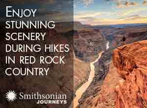Enjoy stunning scenery during hikes in red rock country