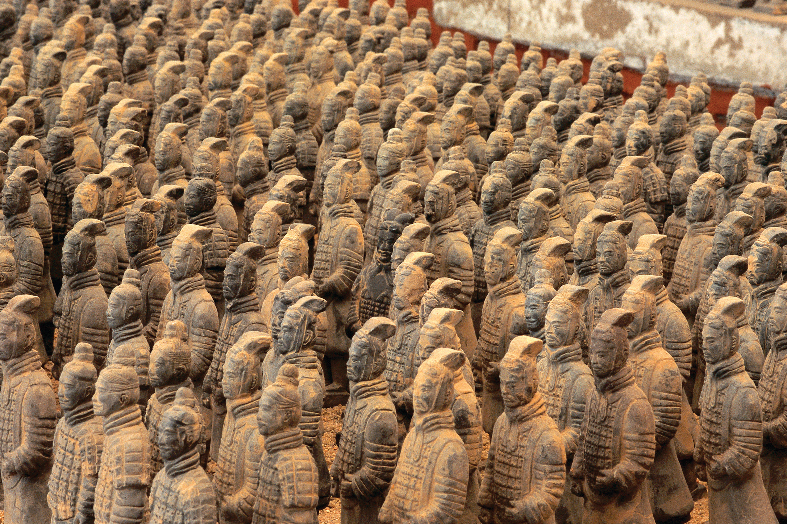 The famous Terra Cotta Warriors in Xi'an