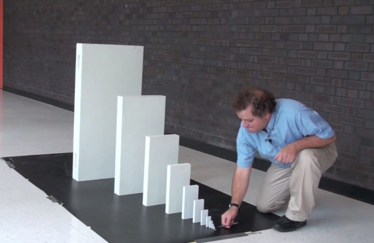 just twenty nine dominoes could knock down the empire state the domino effect a