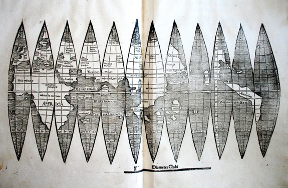One of the first maps to include america found in old geometry this gumiabroncs Gallery