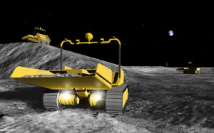 Teleoperated robots emplace much of the lunar outpost infrastructure prior to human arrival (Astrobotic Technology Inc.)