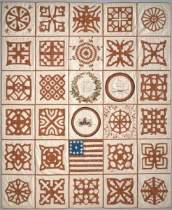 An 1853 quilt from South Reading, Massachusetts, National Museum of American History
