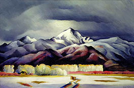 Winter in the Sangre de Cristos, by Gene Kloss, at Smithsonian American Art Museum