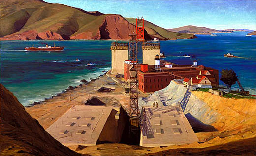Golden Gate Bridge, 1934 by Ray Strong, Photograph courtesy of the Smithsonian American Art Museum