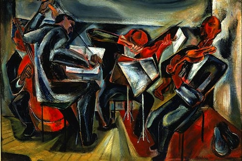 Budapest String Quartet (1941) by Joseph Wolins. Image courtesy of the American Art Museum.