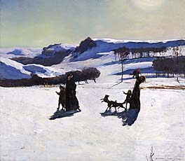 Snow Fields (Winter in the Berkshires), by Rockwell Kent, at Smithsonian American Art Museum
