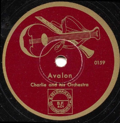 One of the few surviving 78rpm recordings made by Charlie and His Orchestra.