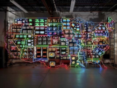 Continental U.S., Alaska, Hawaii, by Nam June Paik, courtesy of Smithsonian American Art Museum
