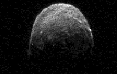 Asteroid 2005 YU55, caught by radar during a close pass in 2011.