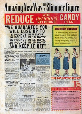 Vintage ad for diet candies, courtesy of Flickr user tmat1075