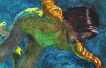 "Detail of ""Underwater"" by Stanley Goldstein"