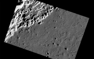 Stresses on Mercury's surface, which may have resulted from the cooling and solidification of either impact melt or volcanic fill. Image Credit: NASA/Johns Hopkins University Applied Physics Laboratory/Carnegie Institution of Washington