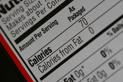 Nutrition label, courtesy of Flickr user teamperks