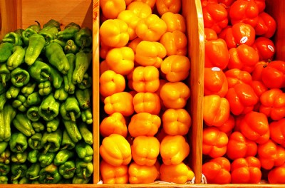 Bell Peppers, courtesy of Flickr user Muffet
