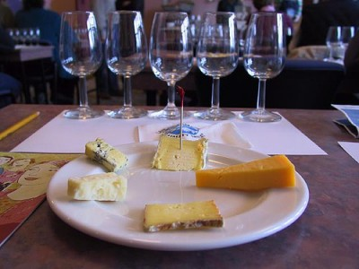 What goes better with cheese -- wine or beer? Image courtesy of Flickr user Vincent Ma
