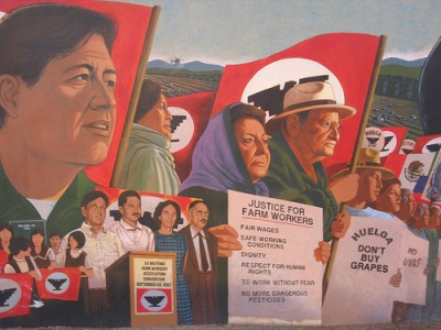 Cesar Chavez Memorial mural, courtesy of Flickr user Salina Canizales