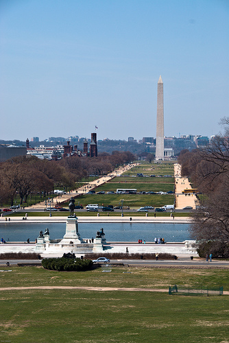 View of the National Mall from the U.S. Capitol. Photo courtesy of flickr user solarnu.
