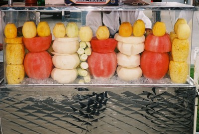 Jicama on a fruit truck, courtesy of Flickr user ChazWags
