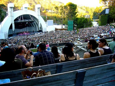 Hollywood Bowl picnickers, courtesy of Flickr user bfick