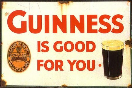 An old Guinness poster, courtesy of Flickr user Joan_Thewlis