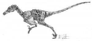 A mechoraptor sketch by Mark Witton