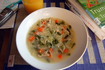 Chicken noodle soup, courtesy of Flickr user su-lin