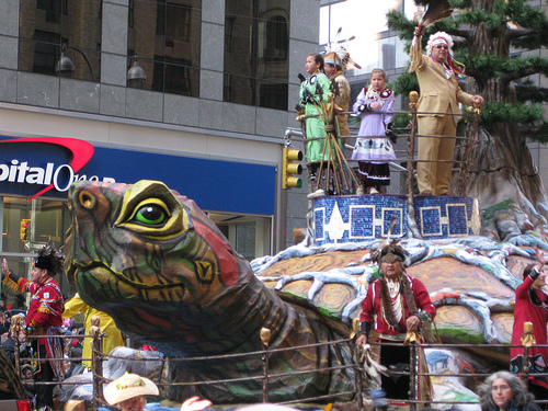 "NMAI's ""Spirit of Thanksgiving"" float will look like this one, sponsored by the Oneida Nation of New York last year. Photo courtesy of flickr user Ben+Sam."