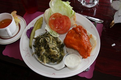 A side dish of Utica greens, courtesy of Flickr user philosophygeek