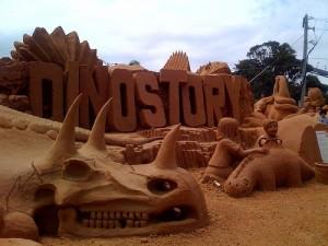 The Dinostory sandstorm display in Australia