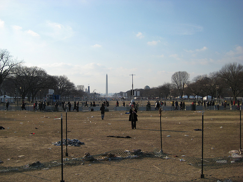 The National Mall, the day of the inauguration. Courtesy Flickr user