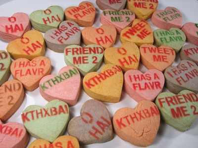 Candy hearts for the 21st century. Courtesy of Flickr user oskay