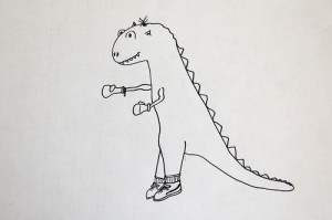 Upload your dino drawing for Draw a Dinosaur Day, January 30. Courtesy of Flickr user DalBoz17