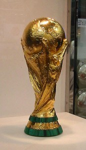 The FIFA World Cup trophy (via wikimedia commons)