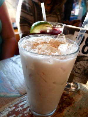 Glass of horchata, courtesy of Flickr user intrepidation