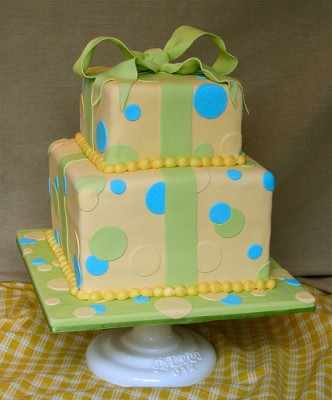 Cake as a gift box, courtesy of Flickr user SweetsbyZoe