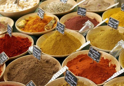 French spice market, courtesy of Flickr user gavinbell