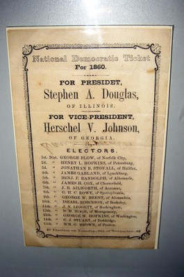 Banner from the 1860 presidential election, courtesy of Flickr user wallyg