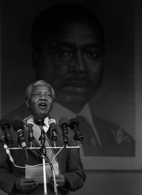 Nobel laureate Nelson Mandela. Courtesy of Flickr user daveblume