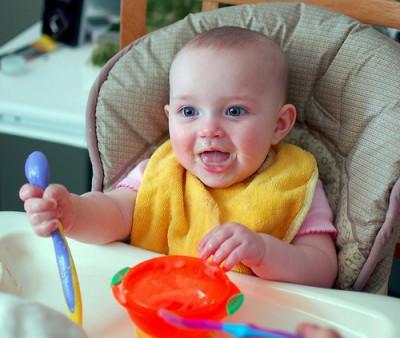 Moms, get your kids enjoying vegetables early! Image courtesy of Flickr user sheepguardingllama