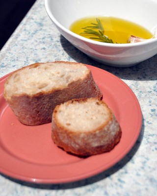 Spanish olive oil and bread at DC's Jaleo restaurant, courtesy of Flickr user Kevin H.