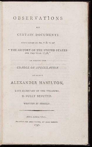Alexander Hamilton s Adultery and Apology History