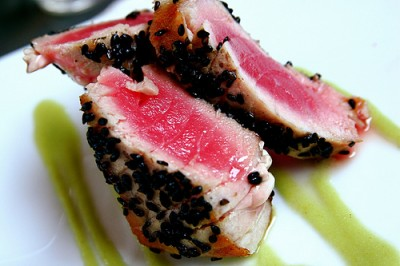 Pan-seared tuna, courtesy of Flickr user stevendepolo
