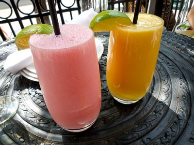Strawberry and Mango Lassi. Courtesy of Flickr user necopunch
