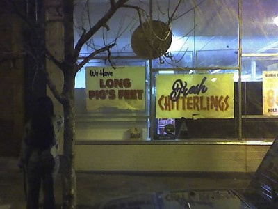 Only in the South, get your fresh chitterlings. Courtesy of Flickr user Custer Flux
