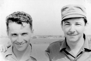 Col Nikolay Shibanov and a youthful Raul Castro