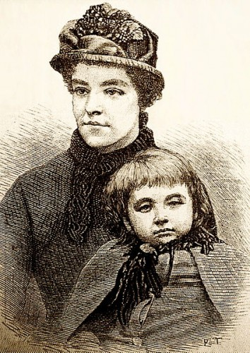 Alice Ayres, a nursemaid who saved the lives of two children caught with her in a burning house, at the expense of her own. Illustration: Wikicommons.