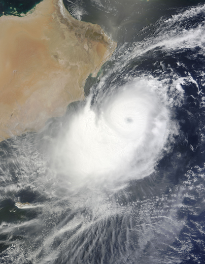 Tropical Cyclone Phet off the coast of Oman (credit: NASA Goddard/ MODIS Rapid Response Team)