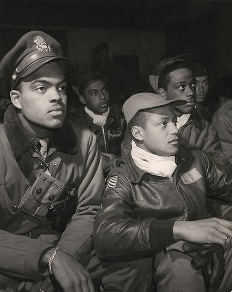 The real Tuskegee Airmen: Hair required.