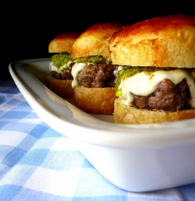 Delicious miniburgers, courtesy of Flickr user chotda