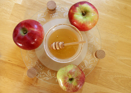 Apples and honey is a traditional Rosh Hashana dish